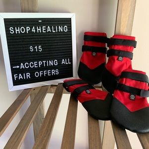 Dog Boots ✵ Ultra Paw Red Dog Boots